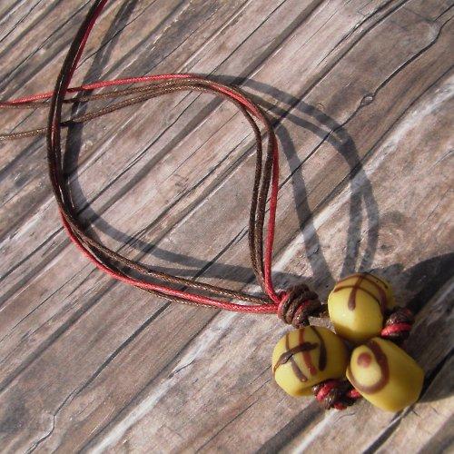 Tříbarevný náhrdelník