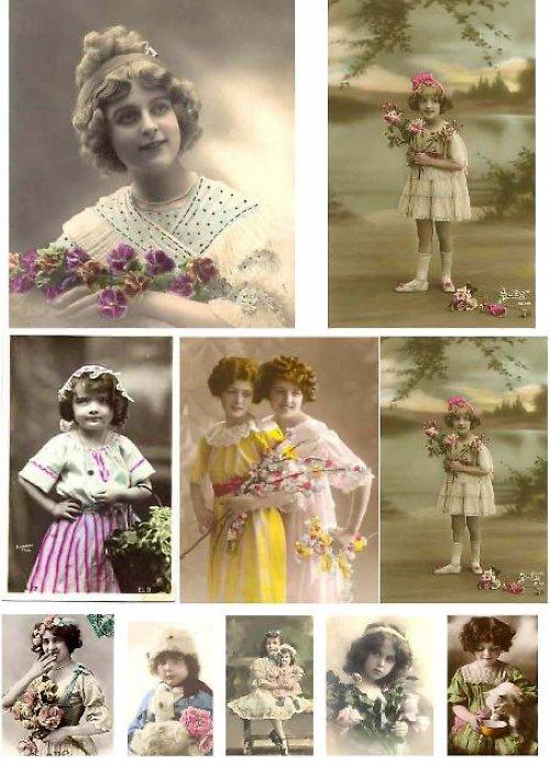 Nažehlovací obrázky: Nostalgie I.- barevné