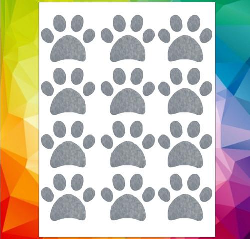 Reflexní nažehlovací obrázky - profi - stopy I