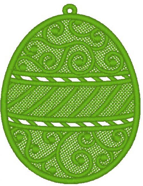 Krajkové vajíčko 4