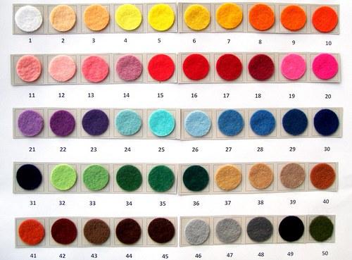 Plsť barva č. 42 - barva terra