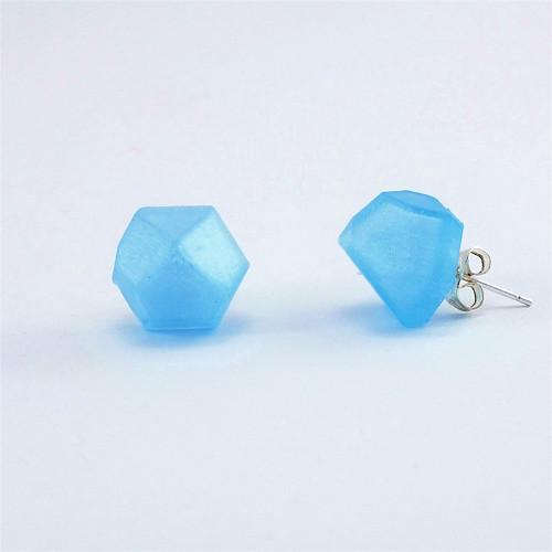 Náušnice krystal iceland blue