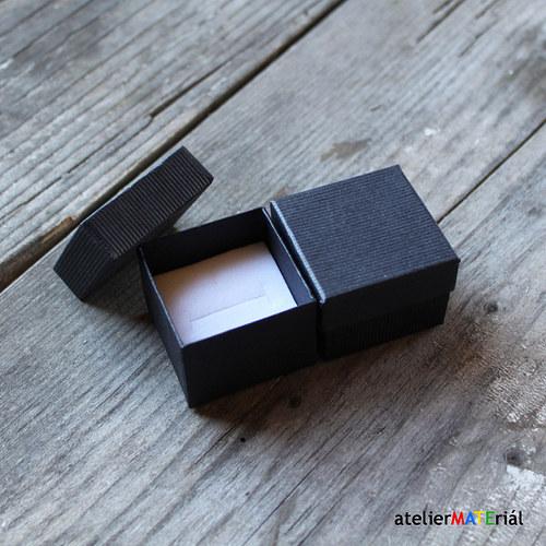 Papírová krabička SOFIA černá XS