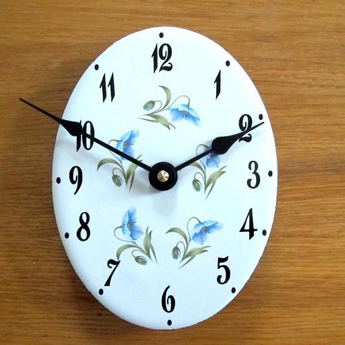 Smaltované hodiny 337