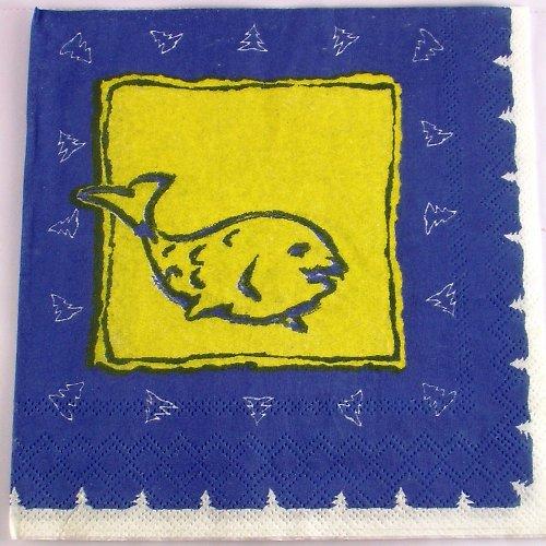 Ubrousek na decoupage - rybička - 33 x 33 cm