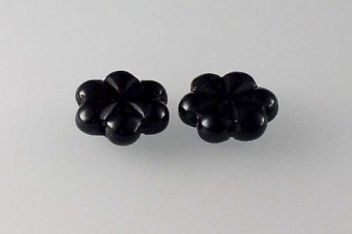 Mačkaná perla 13 mm černá 10ks