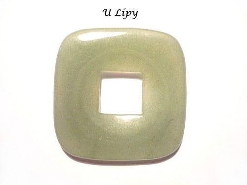 Donut 3,5 x 3,5 cm - avanturín, č.28