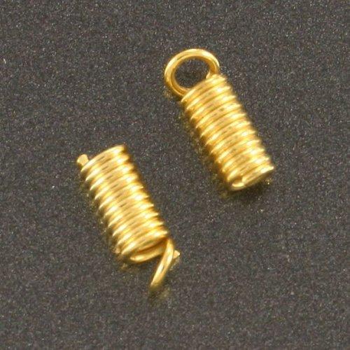 Koncovka pružina 3x7mm zlatá 10 ks