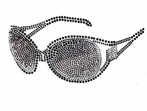 Brýle - Štrasový nažehlovací motiv, kamínky