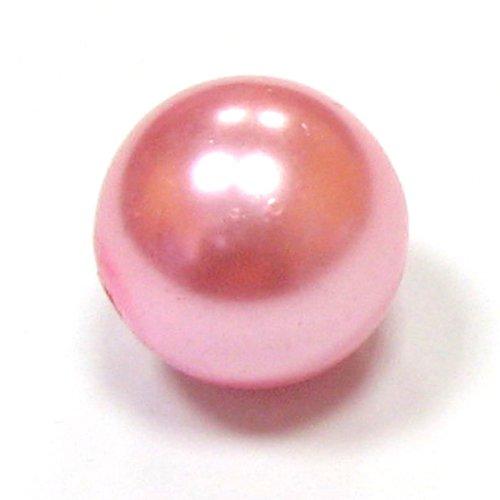 Perly voskové - 16 mm - růžová