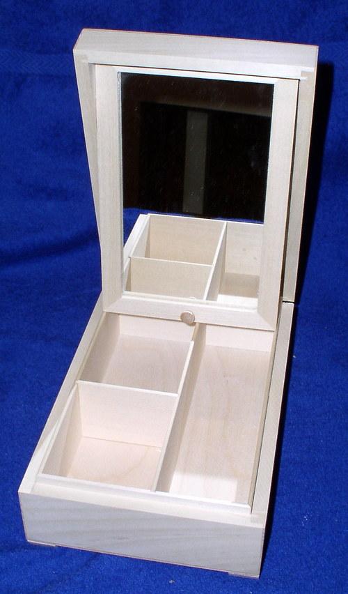 Šperkovnice - zrcadlo a tři přihrádky DD52