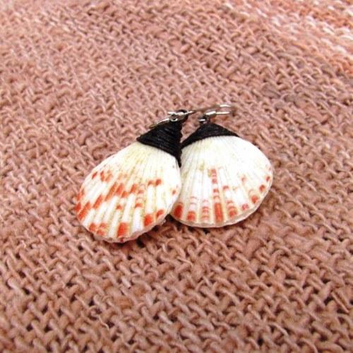 Naušnice z malých mušliček