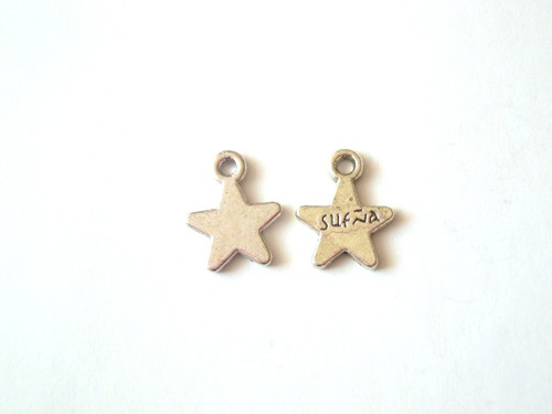 Přívěsek hvězdičky malé s nápisem 4 ks