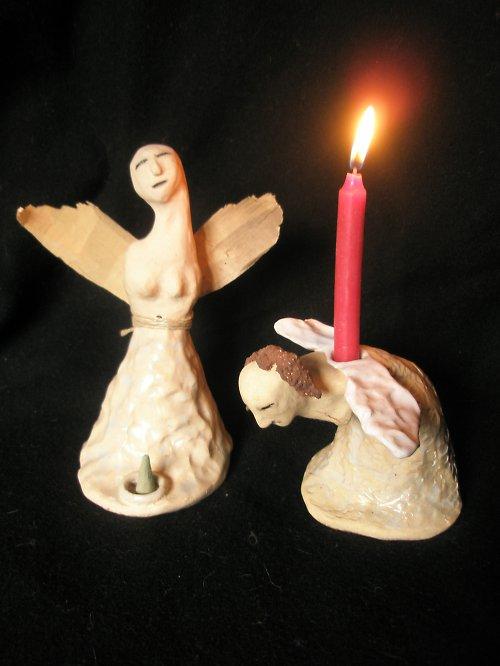 Andělské svícny..