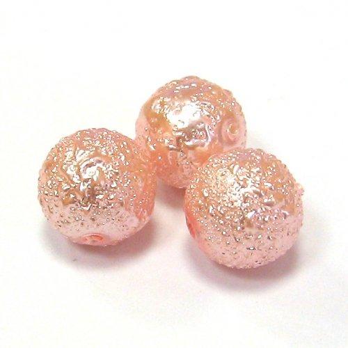 Zvrásněné perly - 10 mm - 3 ks