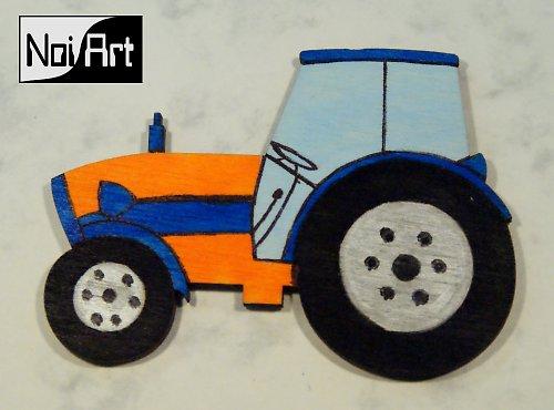 Traktor modro-oranžový
