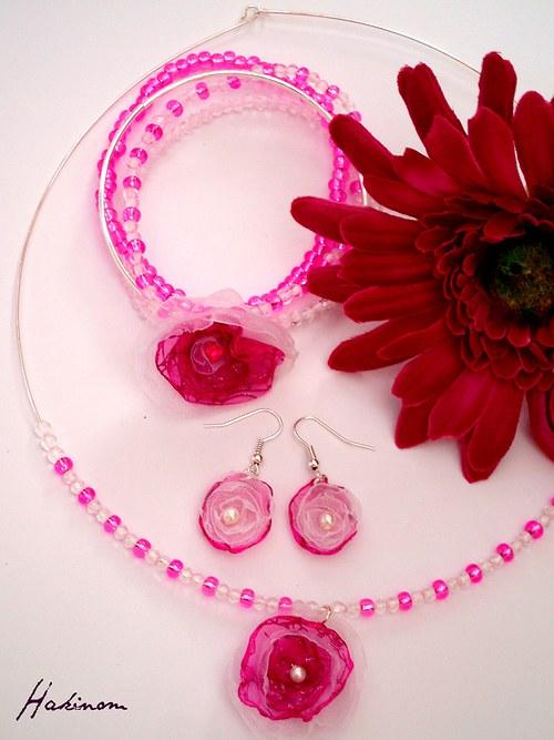 Růžové kvítky