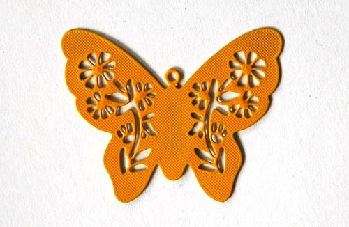 Motýl malý žlutý 25x31mm
