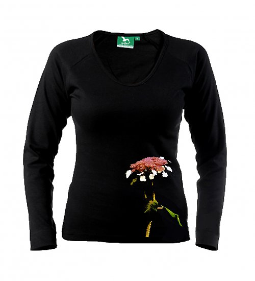 Designové dámské triko ,,Hortenzie,,