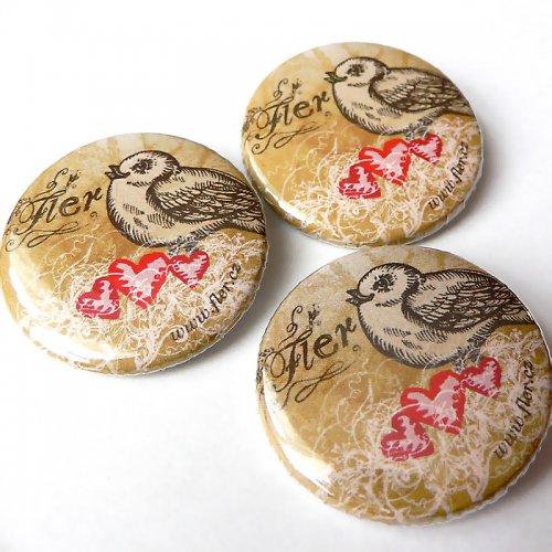 Fler placky - Ptáček v hnízdě 3ks