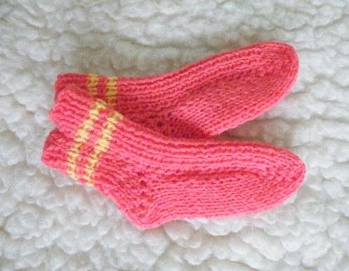 ponožky dětské žluto-oranžové