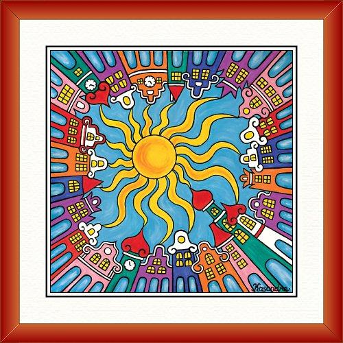 Město šťastných lásek - den 32,5 x 32,5cm