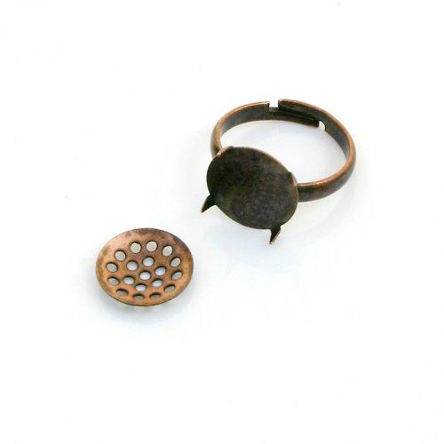 Základ na prsten měděný, lůžko + sítko
