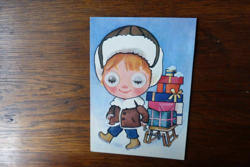 Dovezu dárky...mrkací pohlednice
