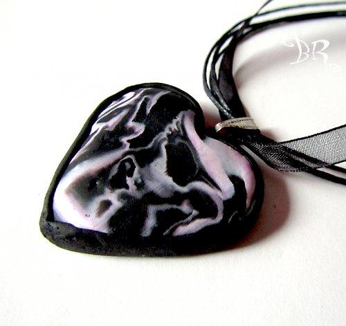 Srdce růžovočerné velké