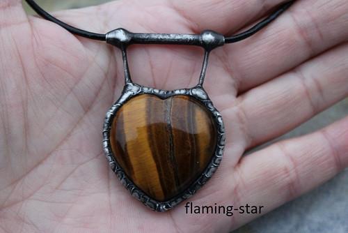 SRDCE TYGRA :) originální cínovaný šperk
