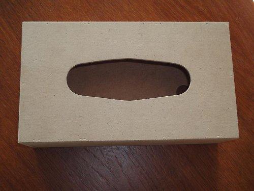 Krabička na kapesníky  - přírodní z MDF