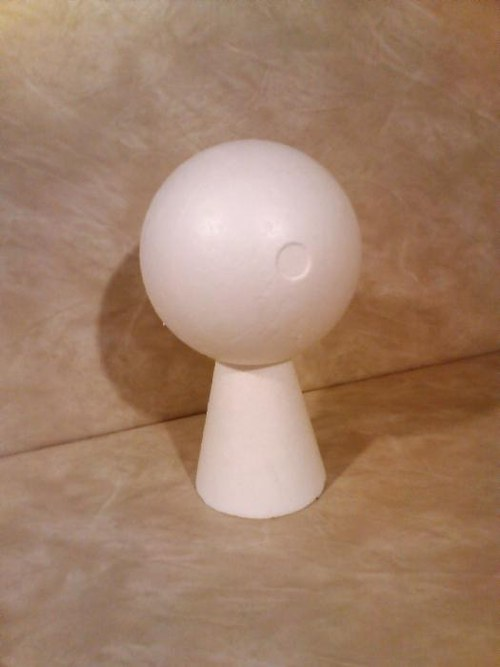 Torzo hlavy obvod 44 cm z polystyrenu