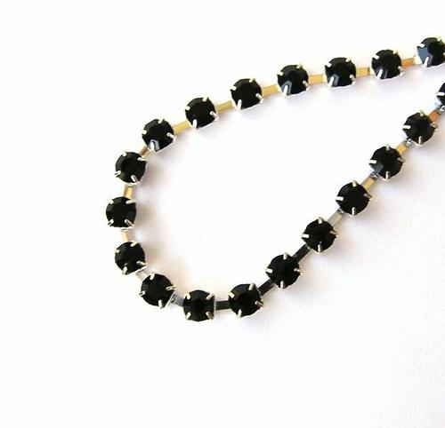 Šatonový řetěz, černá - 2 cm