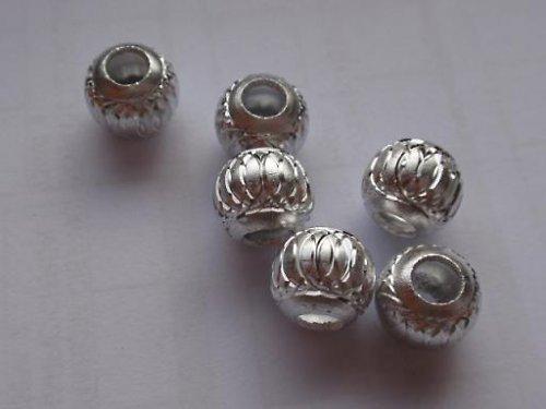 Korálek kovový stříbrný (10 mm)