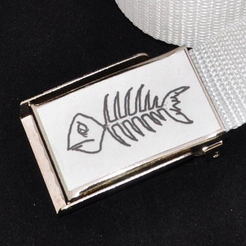 Dámský opasek do bokovek -ryba bílá
