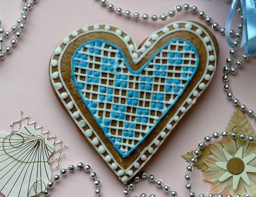 Valentinské srdce modré