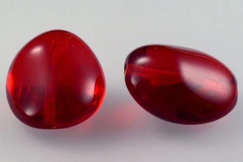 Mačkaná perla 26x22mm siam 2ks