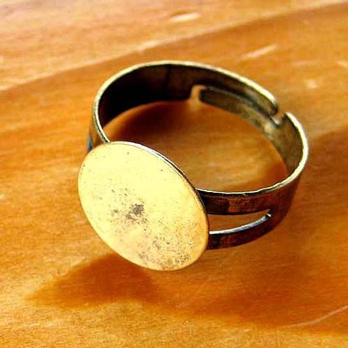Prsten Kulatý 12mm - Bronzový