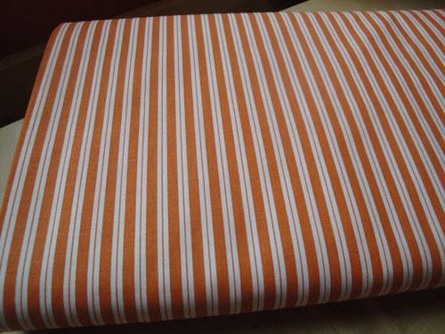 100 % bavlna -Oranžový proužek