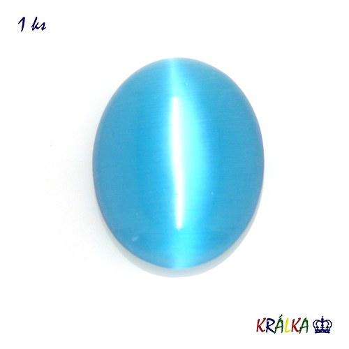 Skleněný ovál modrý