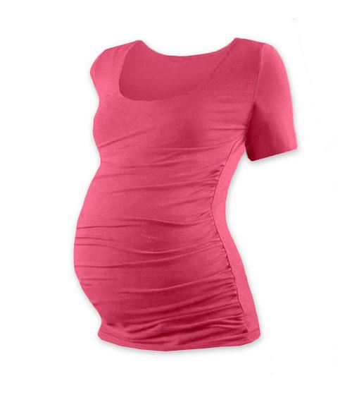 Těhotenské tričko KR lososově růžové
