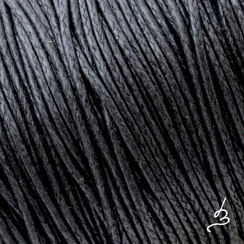 Bavlněná šňůrka 1 mm černá