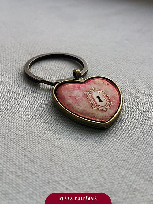Srdce na klíček - přívěsek