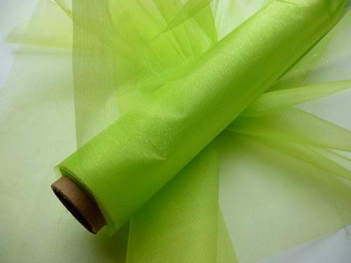 Organza světle zelená neobroubená (barva č. 30)