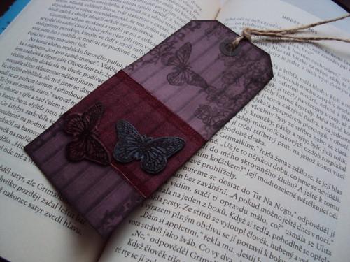 Záložka do knihy - Motýlí elegance