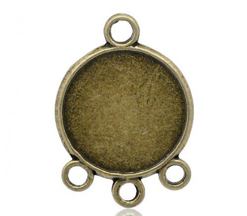 ramínko konektor lůžko 1:3/ bronz/ 28x20mm/ 1ks