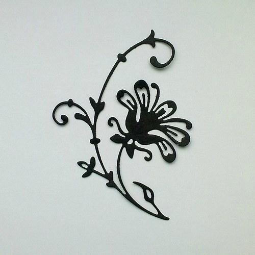 Výsek - Větvička s květem