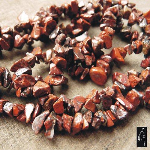 Jaspis brekcie - zlomky, návlek cca 20 cm