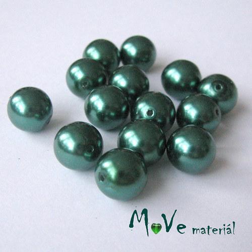 České voskové perle10mm, 14ks, zelené