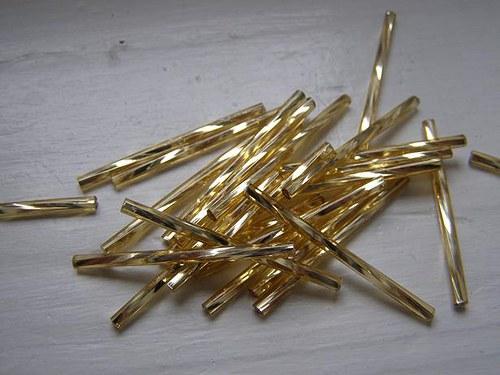Rokajl - čípky - tyčka 10g - 35mm - zlatý